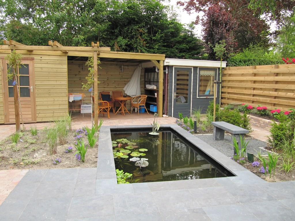 Foto 39 s tuinaanleg en tuinontwerp hoveniersbedrijf d hemmes - Foto sluit een overdekt terras ...