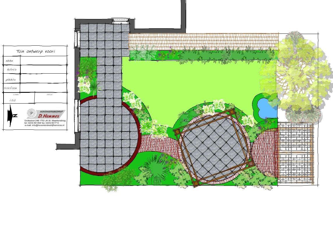 Tuinontwerp tuinadvies beplantingsplan kop van noord holland hoveniersbedrijf d hemmes - Tuin ontwerp exterieur ontwerp ...